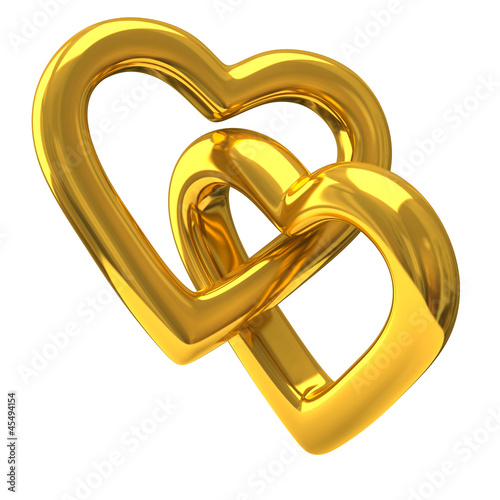 Two Heart Shaped Wedding Rings Together 3d Stock Photo And Royalty Free Images On Fotolia