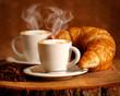 Cappuccino caldo e Brioche