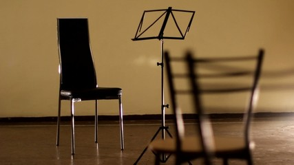 Music Stand and Chairs
