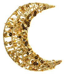 Christmas half moon golden decoration