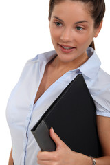 Woman with a business folder