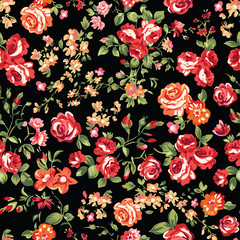 seamless classic rose background