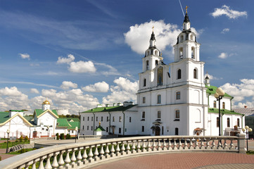 Cathedral of Holy Spirit in Minsk. Main Orthodox church of Belar