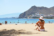 Beach scene. Playa de la Teresitas. Tenerife, Canaries