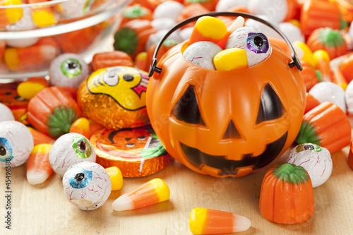 Spooky Orange Halloween Candy - 45496588