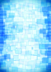 glass blue squares