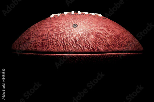 High Contrast Horizontal American Football - 45498980
