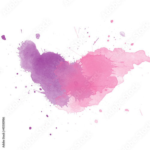 Colorful Abstract watercolor art hand paint on white background