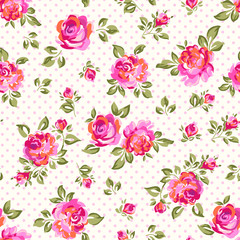 bright seamless rose background