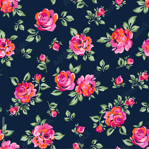 cute seamless rose background