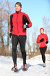 Sport in winter - People running