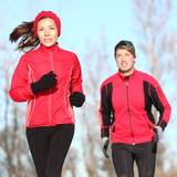 Healthy lifestyle winter running