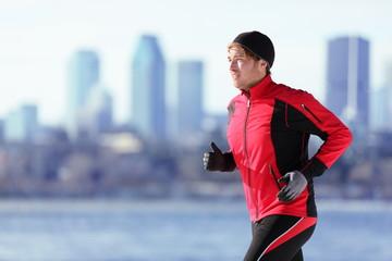 Athlete man running sport