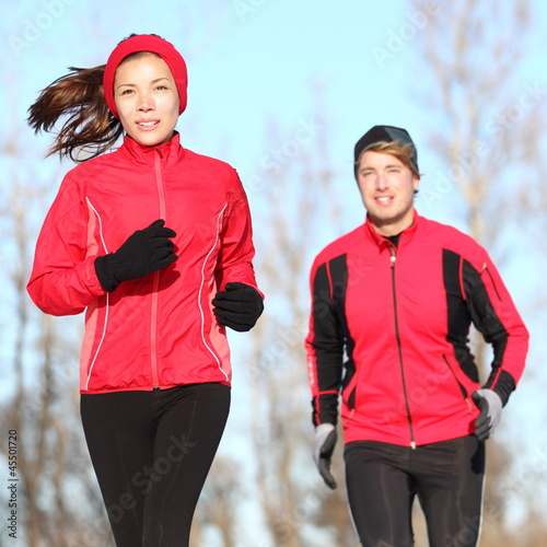 Healthy lifestyle winter running