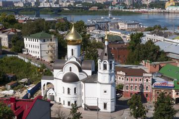 Панорама центра города Нижнего Новгорода.