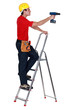 A handyman with a drill.