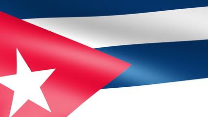 Cuba Flag Waving