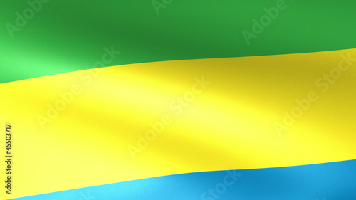 Gabon Flag Waving