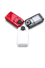 Car digital camcorder on the white background