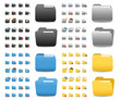 folder Icons Set for Web Applications & Internet - Vector