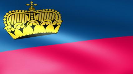 Liechtenstein Flag Waving