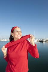 Portrait woman active retirement