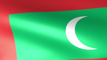 Maldives Flag Waving