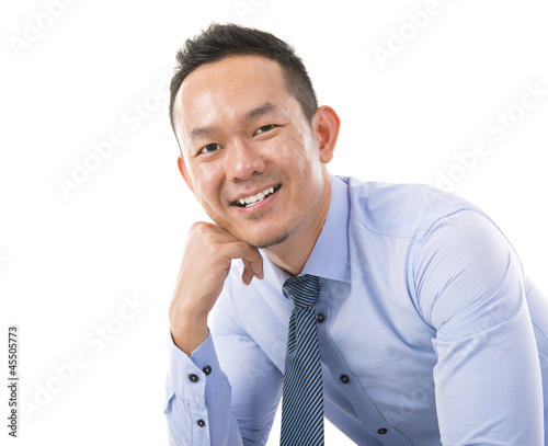 Confident Asian man