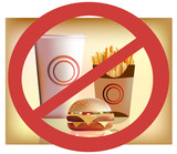 fastfood --- harm for health poster