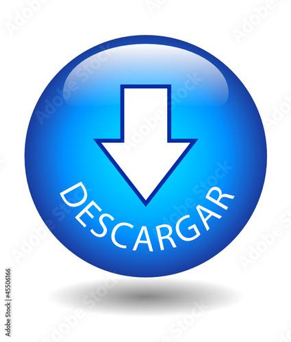 """Botón Web """"DESCARGAR"""" (internet hacer clic aquí cargar download)"""