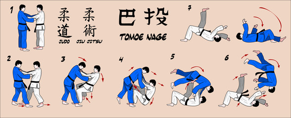 Judo circle throw