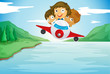 kids and aeroplane