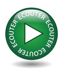 """Bouton Web """"ECOUTER"""" (lecture musique cliquer ici en direct go)"""