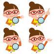 虫眼鏡 主婦 表情 セット