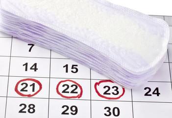 woman hygiene protection menstruation period health care calenda