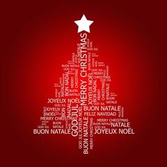 Biglietto natalizio di auguri multilingua