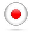Japan flag on button