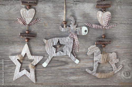 Wooden christmas deco