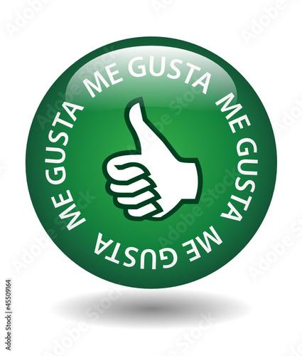 """Botón Web """"ME GUSTA"""" (compartir opinión satisfacción votar like)"""