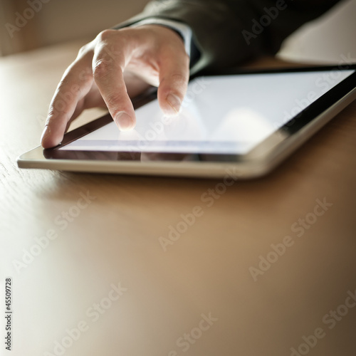 Person Using Modern Tablet Device
