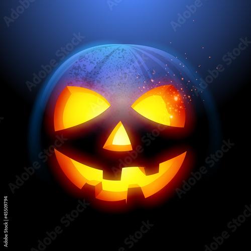 Grinning Halloween Pumpkin