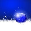 Hintergrund, Blau, Weihnachten, Winter, Kugel, Schneekristalle