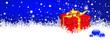 Hintergrund, Blau, Weihnachten, Panorama, Banner, Webdesign, Eis