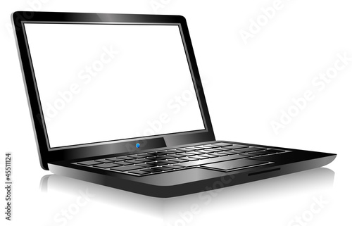 Laptop PC Computer on white background