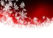 Roter Hintergrund, Schneeflocken, Schnee, Symbole, Zeichen, Eis