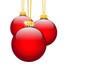 Weihnachtsdekoration, Deko, Rot, Kugeln, Hintergrund, Grußkarte