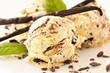 canvas print picture - Vanilleeis mit Schokolade