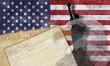 Bandera, constitución y libertad de Estados Unidos de América