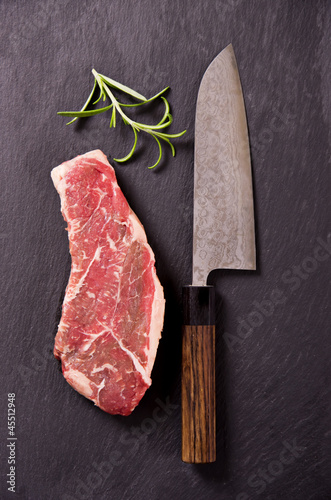 Steak mit Santoku-Messer