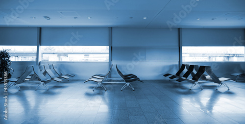Empty departure lounge in aereoport.